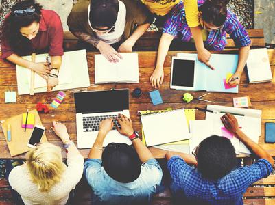 Diversity Teamwork Brainstorming Meeting Outdoors Concept