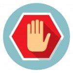 No entry hand icon