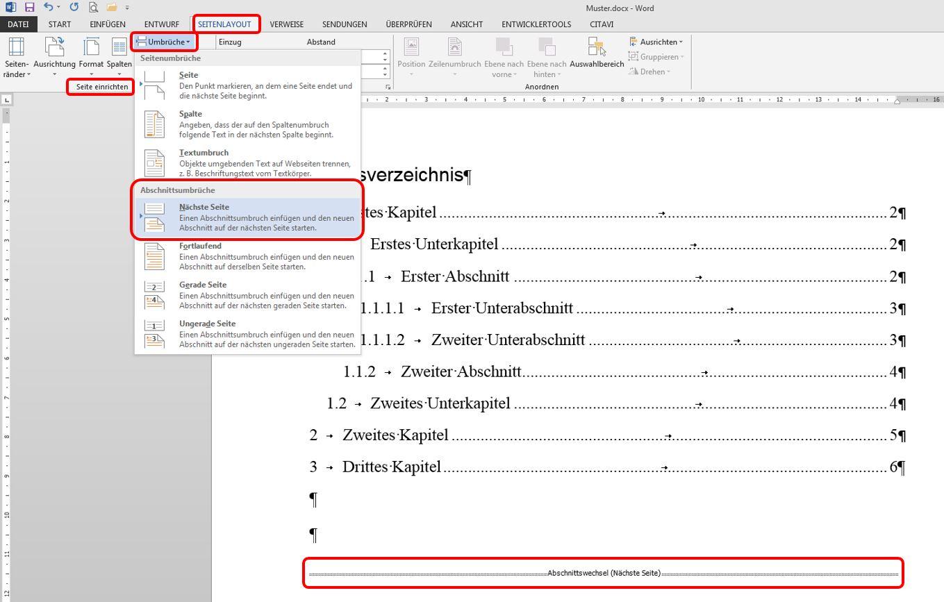 Seitenzahlen In Word 2013 Wissenschafts Thurm