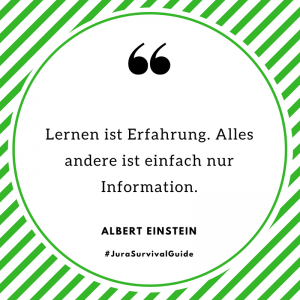 Lernen ist Erfahrung. Alles andere ist einfach nur Information. (Albert Einstein)