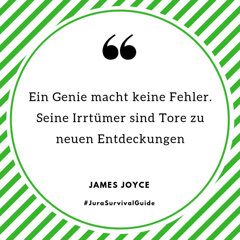 Zitat James Joyce: Ein Genie macht keine Fehler. Seine Irrtümer sind Tore zu neuen Entdeckungen.