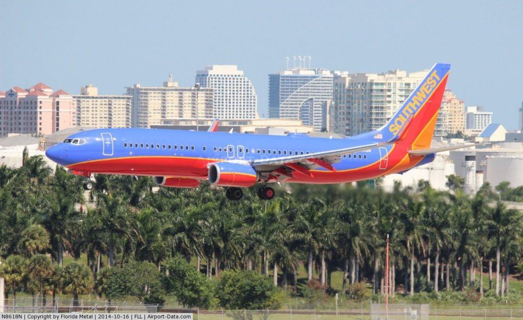 Landeanflug in Fort Lauderdale/USA,