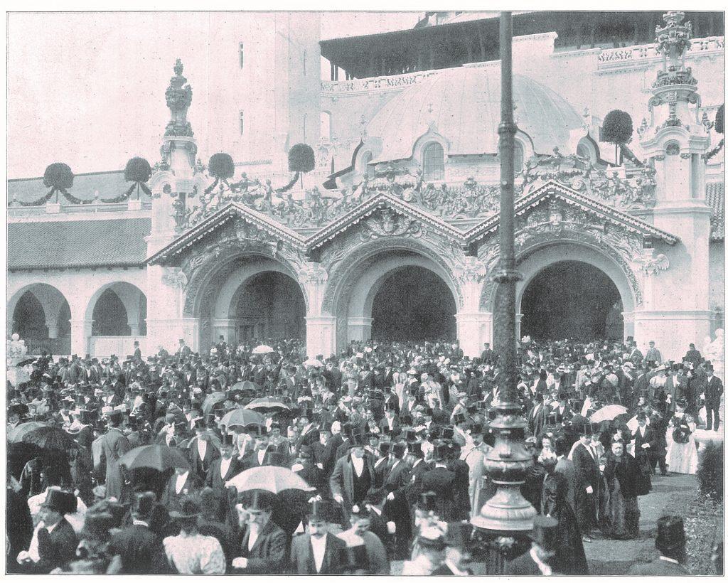 Berliner Gewerbeausstellung von 1896 am Eröffnungstag
