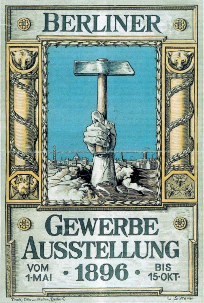 Offizielles Ausstellungsplakat der Gewerbeausstellung von 1896