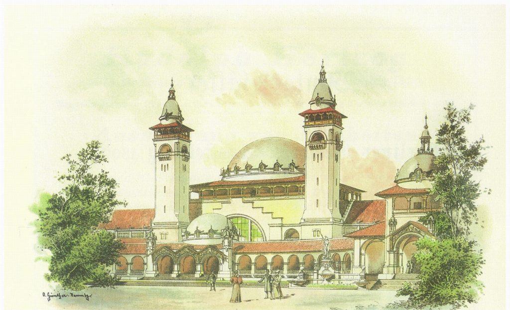 Hauptausstellungsgebäude  der Gewerbeausstellung von 1896 in Berlin