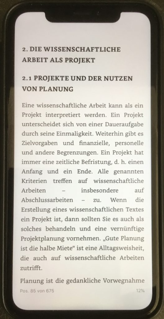 eBook auf dem iphone