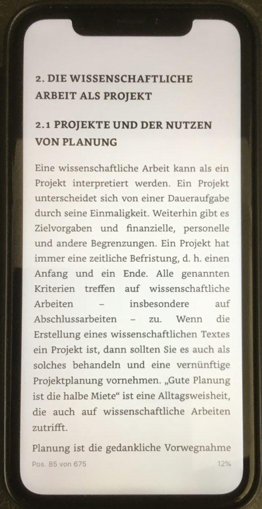 eBook auf dem iphone