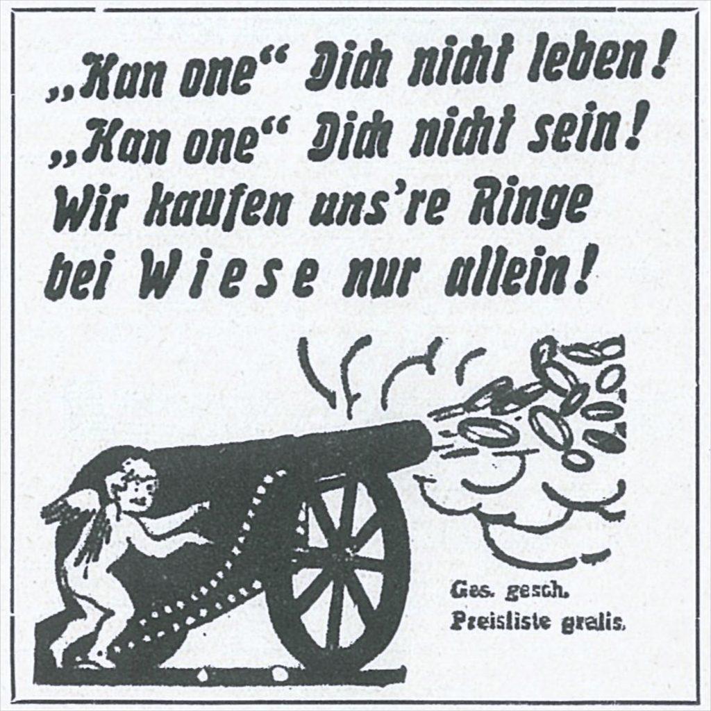 Zeitungswerbung anno 1929