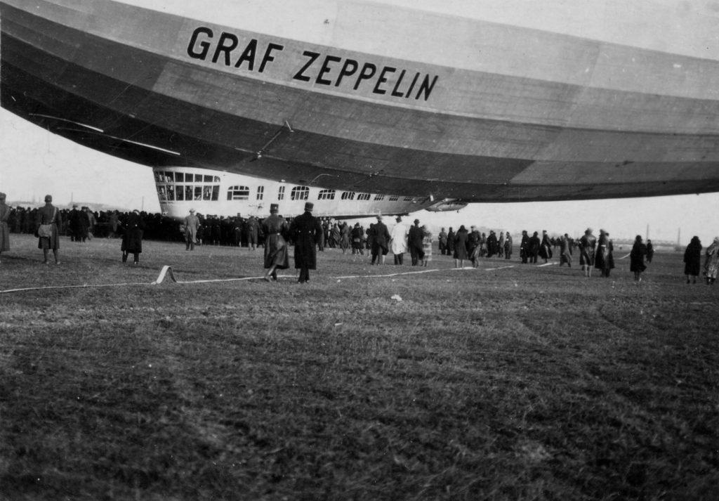 Luftschiff Graf Zeppelin in Budapest